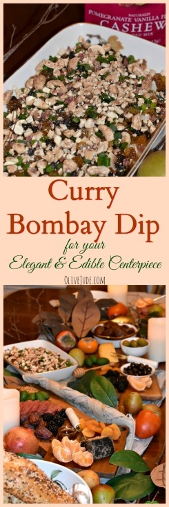 Curry Bombay Dip for your Elegant and Edible Centerpiece #sahalenuts #currydip #bombaydip #ediblecenterpiece