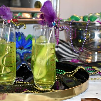 Cucumber Hurricane Twist: A Mardi Gras Cocktail