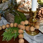 Rustic Woodland Winter Wonderland Tablescape