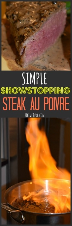 Simple Showstopping Steak au Poivre