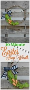 DIY: 10 Minute Easter Hoop Wreath