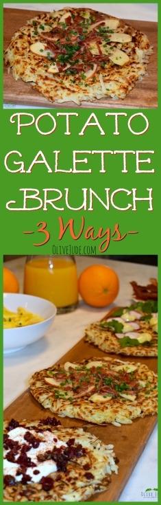 Potato Galette Brunch, 3 Ways  #brunchrecipes #simplypotatoes #shreddedpotatoes #potatogalettes
