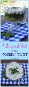 7-Layer Salad with a Modern Twist #7layersalad #healthysaladrecipe #layeredsalad