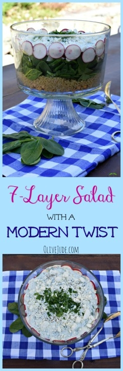 7-Layer Salad with a Modern Twist #7layersalad #healthysaladrecipe #layeredsalad