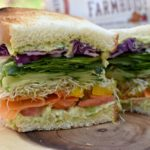 Colorful Veggie Sandwich with Chunky Chickpea Spread