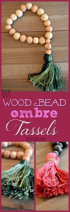 DIY: Wood Bead Ombre Tassels