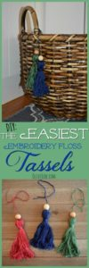 DIY: The Easiest Embroidery Floss Tassels