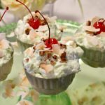 Toasted Coconut and Pecan Topped Pistachio Dessert: The Best Watergate Salad