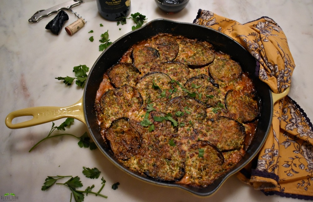 Weeknight Eggplant Gratin with Herbed Creme Fraiche