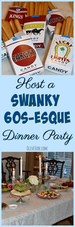 Host a Swanky 60s-esque Dinner Party #dinnerclub #60sdinnerparty #retrococktailparty #madmenparty