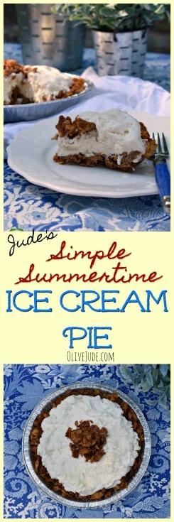 Jude's Simple Summertime Ice Cream Pie #icecreampie #summertimedessert #icecreamdessert #simpledessertideas
