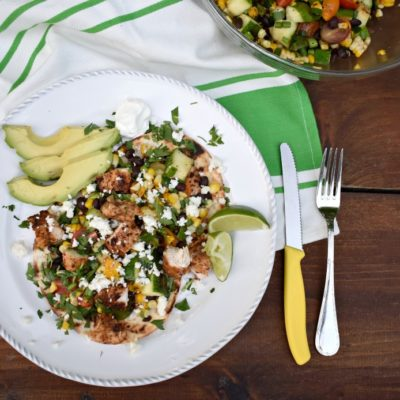 Grilled Chicken and Summer Vegetable Tostadas