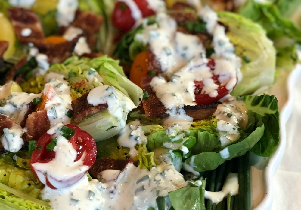 Potluck BLT Salad and Buttermilk Ranch Platter #blt #bltsalad #potluckrecipe #buttermilkranch