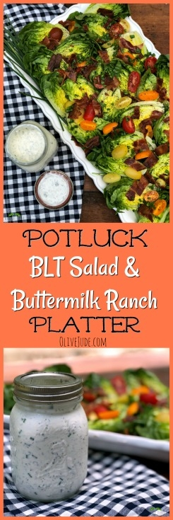 Potluck BLT Salad and Buttermilk Ranch Platter #blt #bltsalad #potluckrecipe #buttermilkranch
