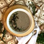 Roasted Cauliflower-Cream of Mushroom Soup
