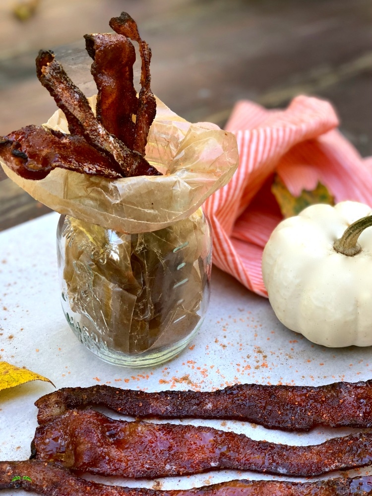 Pumpkin Spice Candied Bacon #candiedbacon #pumpkinspicebacon #baconrecipes #pumpkinspicecandiedbacon