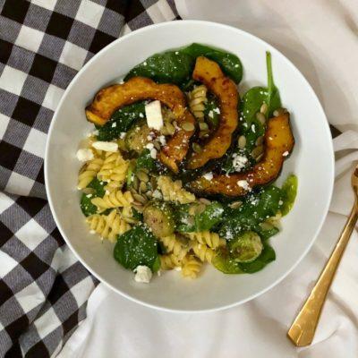 Autumn Acorn Squash Pasta Salad