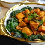 Ginger Roasted Sweet Potatoes and Coconut Swiss Chard
