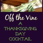Off the Vine: A Thanksgiving Day Cocktail #thanksgivingcocktail #sagecocktail #vodkacocktail #muddledsageandgrapes #freshherbcockail