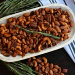 Rosemary Citrus Party Nuts with Maple Glazed Bacon