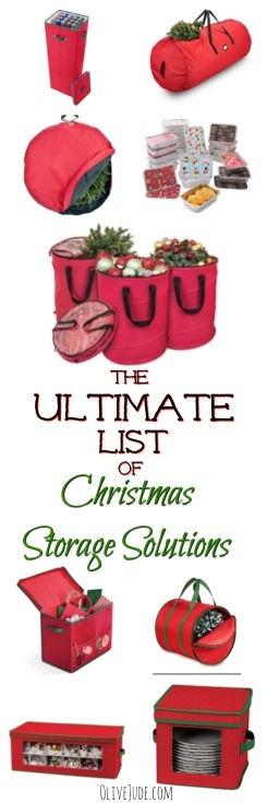 The Ultimate List of Christmas Storage Solutions #christmasorganization #christmasstorage #storageideas #holidaystorage