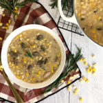 Rosemary Mushroom Chicken Corn Chowder