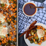 Sheet Pan Egg and Veggie Breakfast with Maple Sriracha Syrup