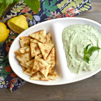 5 Minute Basil Cottage Cheese Dip #cottagecheesedip #basildip #5minutedip #easydiprecipe