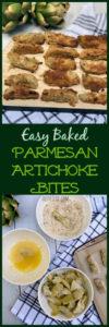 Easy Baked Parmesan Artichoke Bites #artichokebites #parmesanartichokes #artichokeappetizer #easyappetizerideas